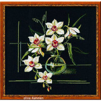 Riolis counted cross stitch Kit White Orchid, DIY