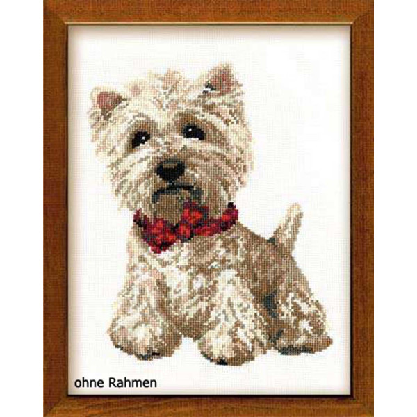 Riolis counted cross stitch Kit West Highland White, DIY