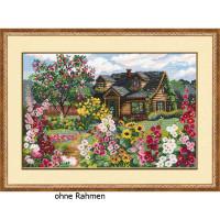 Riolis counted cross stitch Kit Flowering Garden, DIY