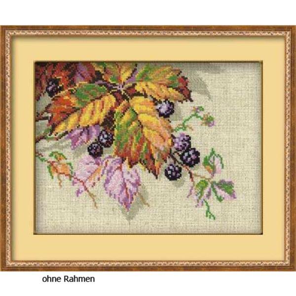 Riolis counted cross stitch Kit Blackberries, DIY