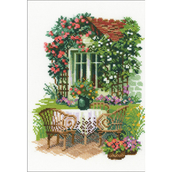"""Riolis counted cross Stitch """"Morning in the Country"""", counted, DIY"""
