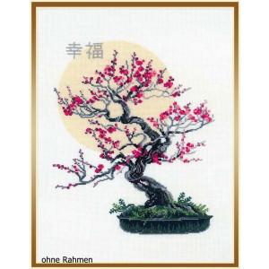 "Riolis Stickbild-Set ""Bonsai Sakura Wish of Well..."