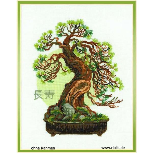 Riolis Kreuzstich-Set Bonsai Pine Wish of Longevity, Zählmuster