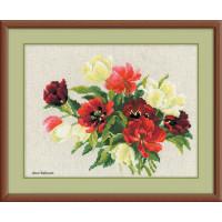 Riolis counted cross stitch Kit Tulips, DIY