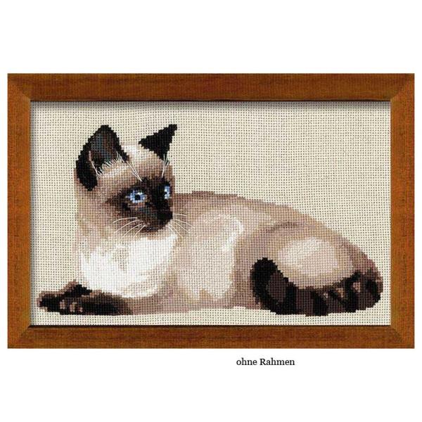Riolis counted cross stitch Kit Thai Cat, DIY
