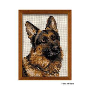 Riolis counted cross stitch Kit German Shepherd, DIY