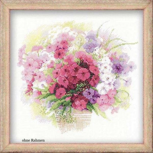 Riolis counted cross stitch Kit Watercolor Phlox, DIY