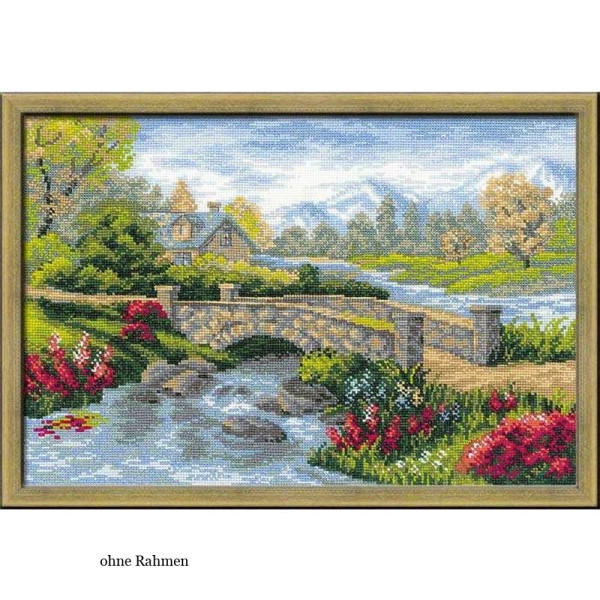 Riolis counted cross stitch Kit Summer View, DIY