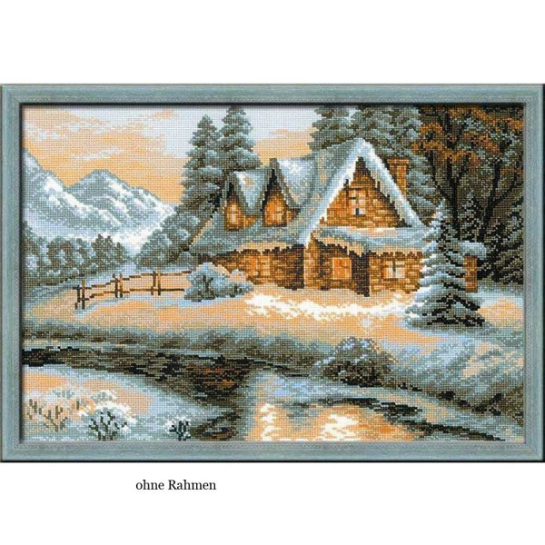 Riolis counted cross stitch Kit Winter View, DIY