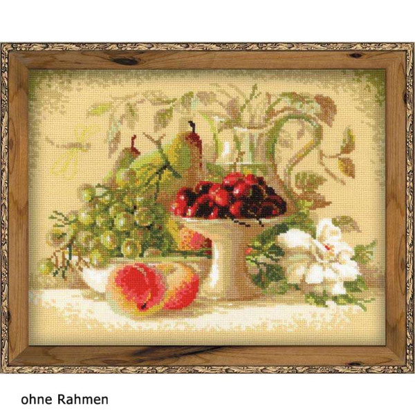 Riolis counted cross stitch Kit Still Life With Sweet Cherries, DIY