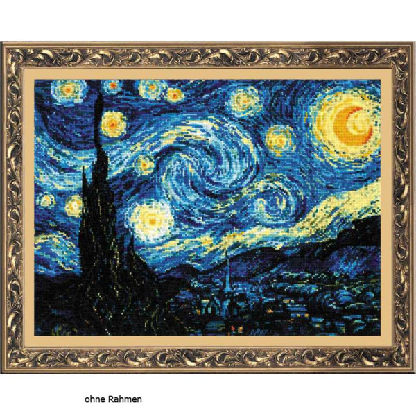 Riolis counted cross stitch Kit Starry Night after Van Gogh`s Painting, DIY