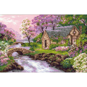 Riolis counted cross stitch Kit The Spring View, DIY