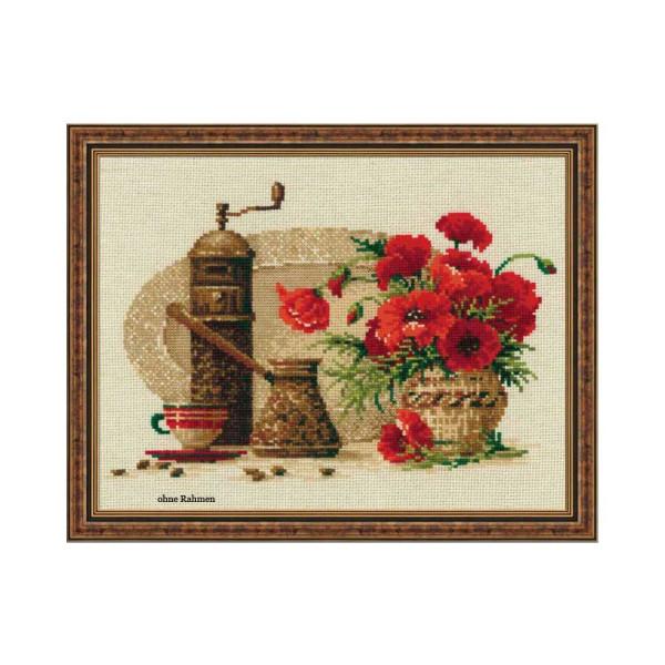 Riolis counted cross stitch Kit Coffee, DIY