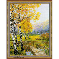 Riolis counted cross stitch Kit The Birches, DIY