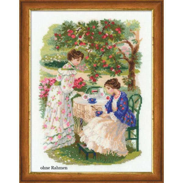 Riolis counted cross stitch Kit The Russian Country Estate. The Tea Under the Apple Tree, DIY