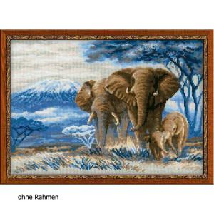 """Riolis Kreuzstich-Set """"Elefanten in der..."""