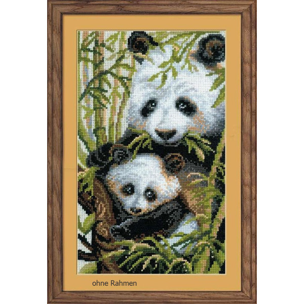 Riolis counted cross stitch Kit Panda with Young, DIY