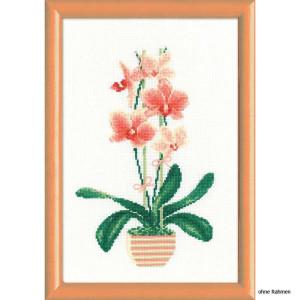 "Riolis Kreuzstich-Set ""Gelbe Orchidee"",..."