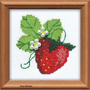 Riolis counted cross stitch Kit Garden Strawberry, DIY