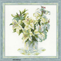 Riolis counted cross stitch Kit White Lilies, DIY