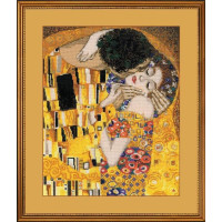 Riolis counted cross stitch Kit The Kiss after G. Klimts Painting, DIY