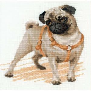 Riolis counted cross stitch Kit Pug Dog, DIY