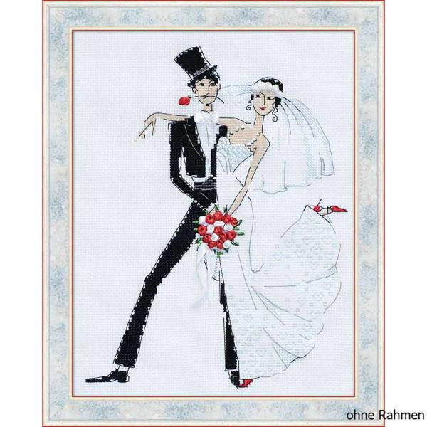 Riolis counted cross stitch Kit Wedding Tango, DIY