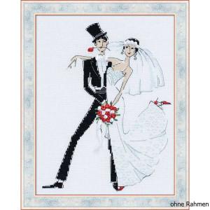 """Riolis Kreuzstich-Set """"Hochzeitstango"""",..."""