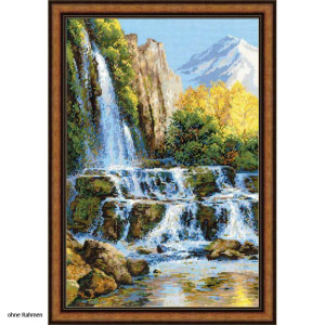 Riolis counted cross stitch Kit Landscape with Waterfall,...