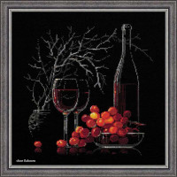 Riolis counted cross stitch Kit Still Life with Red Wine, DIY