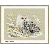 Riolis counted cross stitch Kit White Owl, DIY