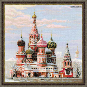Riolis counted cross stitch Kit Moscow. St. Basils...