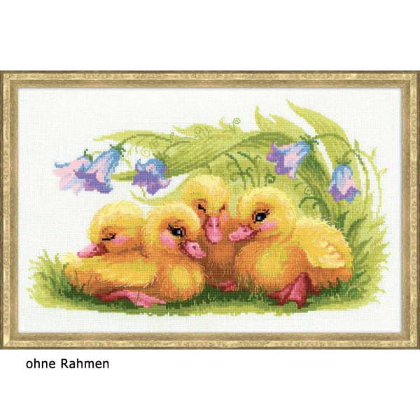 Riolis counted cross stitch Kit Funny Ducklings, DIY