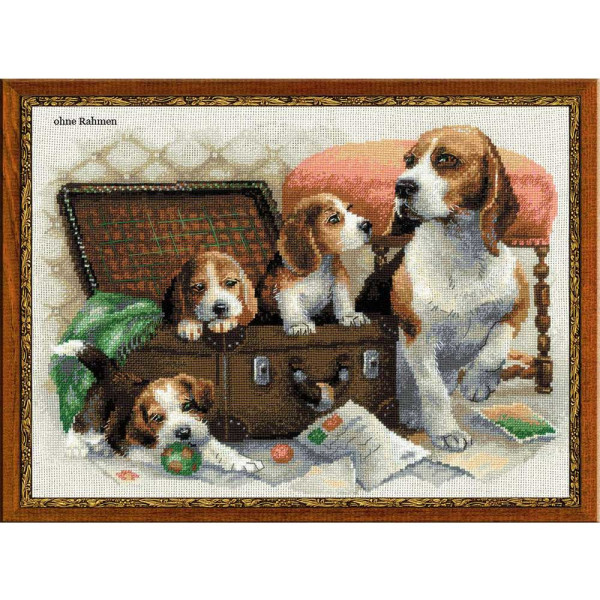 Riolis counted cross stitch Kit Canine Family, DIY