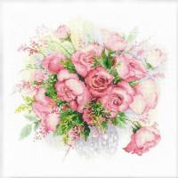 Riolis counted cross stitch Kit Watercolor Roses, DIY