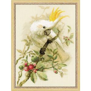 Riolis counted cross stitch Kit White Cockatoo, DIY
