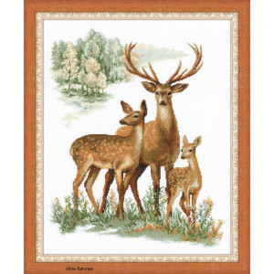 Riolis counted cross stitch Kit Deers, DIY