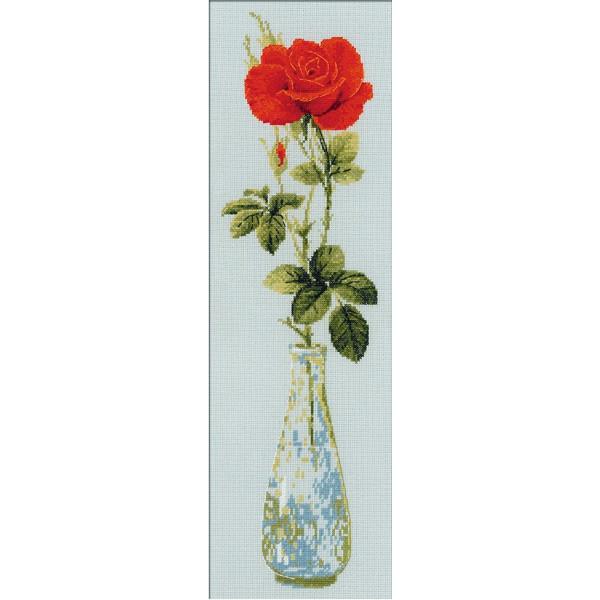 Riolis Kreuzstich-Set, Motiv Königin der Blumen, Zählmuster