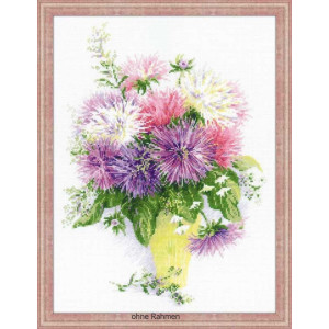 Riolis counted cross stitch Kit Asters, DIY
