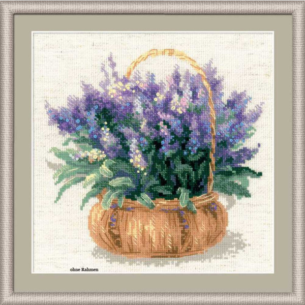Riolis counted cross stitch Kit French Lavender, DIY
