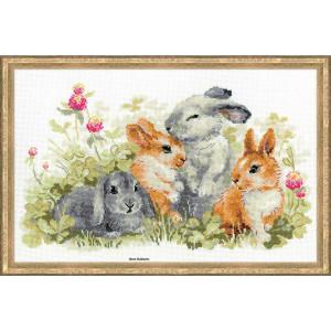 Riolis counted cross stitch Kit Funny Rabbits, DIY
