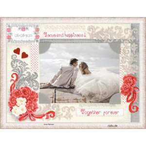 Riolis counted cross stitch Kit Photo frame Love and...
