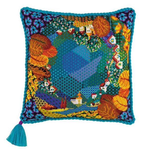 Riolis counted cross stitch Kit Dreamland Cushion, DIY