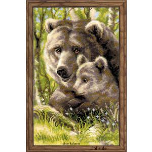 "Riolis counted cross stitch kit ""bear family"",..."