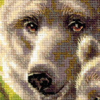 """Riolis counted cross stitch kit """"bear family"""", counted, DIY"""