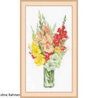 Riolis counted cross stitch Kit Bouquet of Gladioli, DIY