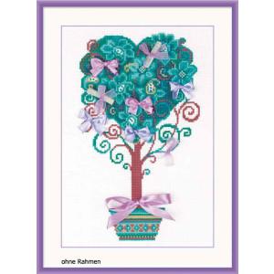 Riolis counted cross stitch Kit Tree of Desires, DIY