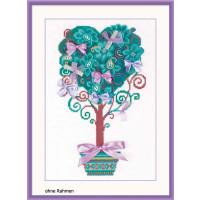 Riolis Kreuzstich-Set Baum der Wünsche Gezählt Set, Zählmuster