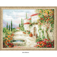 Riolis counted cross stitch Kit At the Fountain, DIY