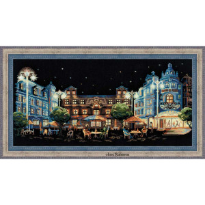 Riolis counted cross stitch Kit Evening Cafe, DIY